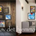 Farverige malerier gør hjemmet mere personligt